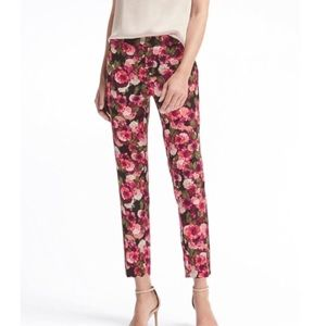 Banana Republic Avery Floral crop Pant 4S